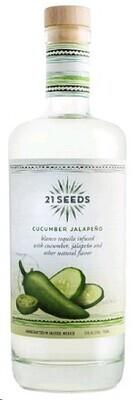 21 Seeds Tequila Blanco Cucumber Jalapeno 750 ml