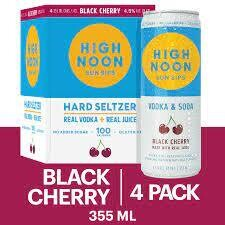 High Noon Black Cherry Vodka Soda 4 pack