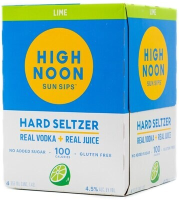 High Noon Lime Vodka Soda 4 pack