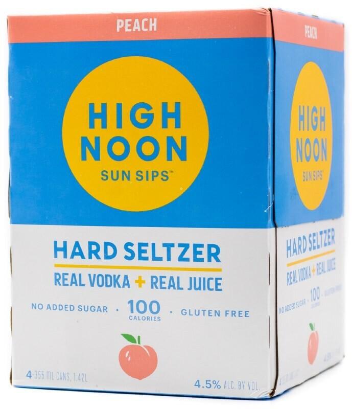High Noon Peach Vodka Soda 4 pack