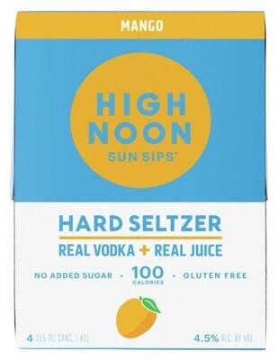 High Noon Mango Vodka Soda 4 pack