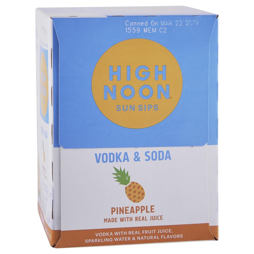 High Noon Pineapple Vodka Soda 4 pack