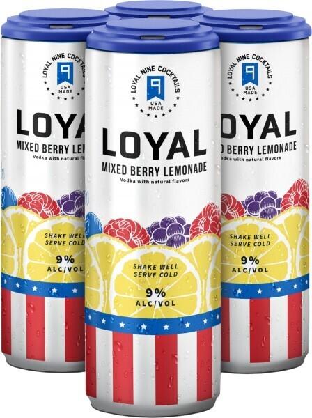Loyal Mixed Berry Lemonade 4 pack can