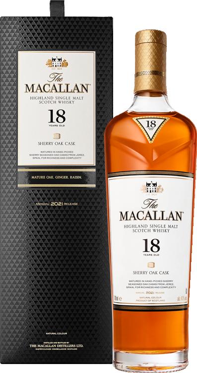 Macallan 18 Year Sherry Oak Single Malt Scotch