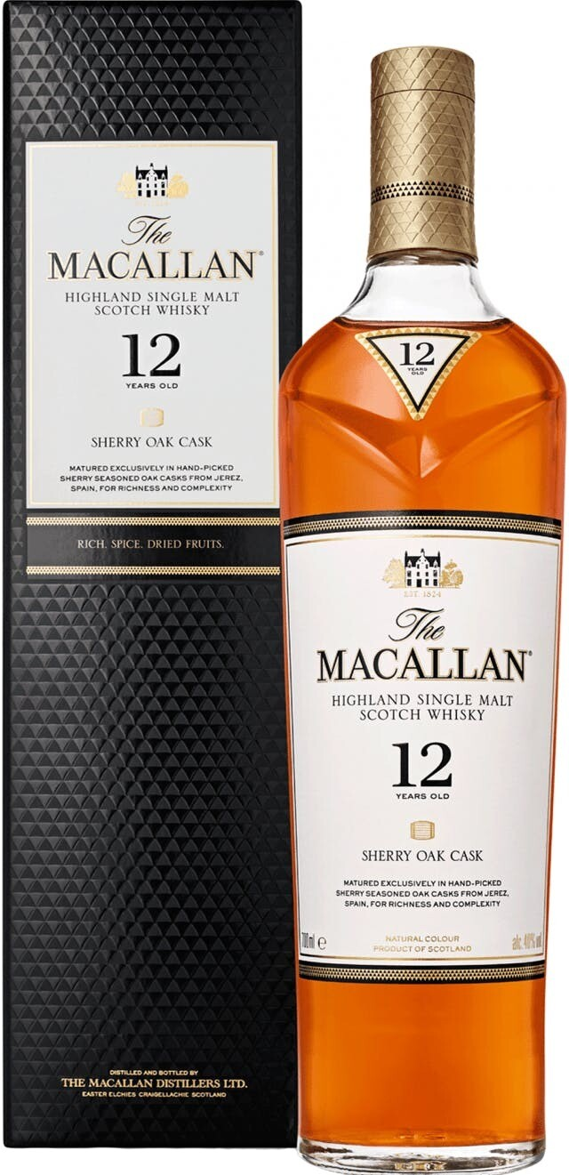 Macallan 12 Year Sherry Oak Single Malt Scotch