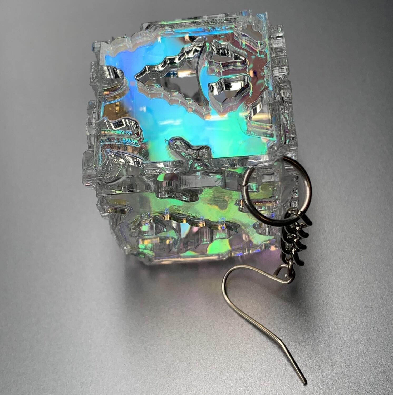 single cube earring*