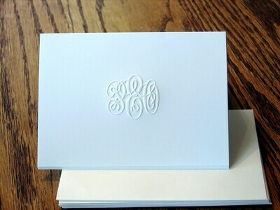 """Embossed P.E.O. Stationery 3.5"""" x 5"""" by Chapter E"""