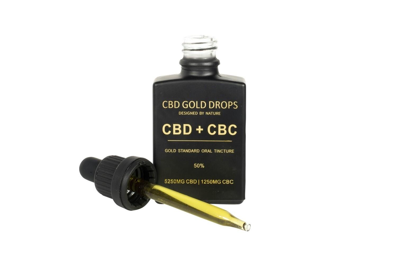 CBD GOLD DROPS 50% CBD 5250mg + CBC 1250mg 30ml