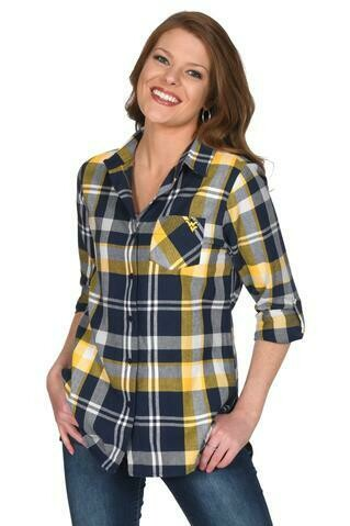 WV BOYFRIEND PLAID BUTTON-UP XL UG