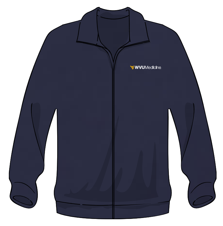 WVU MEDICINE FLEECE L Navy