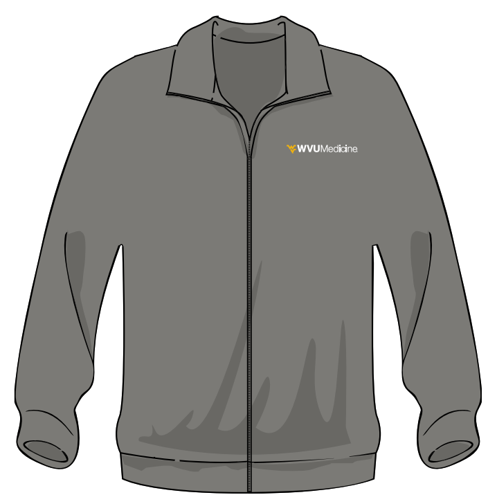 WVU MEDICINE FLEECE L Gray