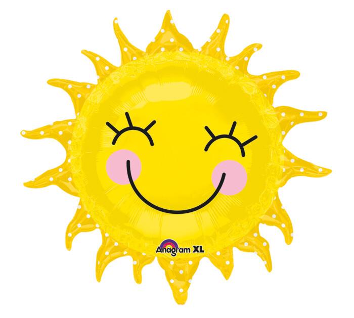 """29"""" SMILING SUN W/POLKA DOTS"""