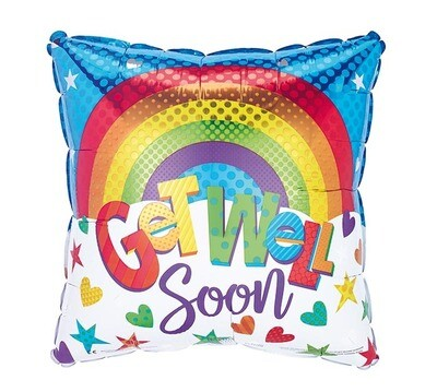 "18"" SQUARE RAINBOW GET WELL"