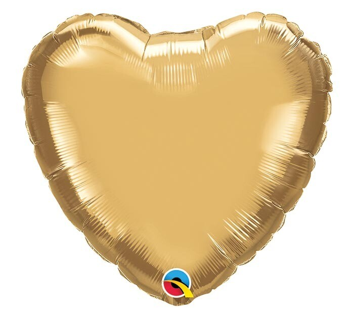 """20"""" CHROME SOLID HEARTS GOLD"""