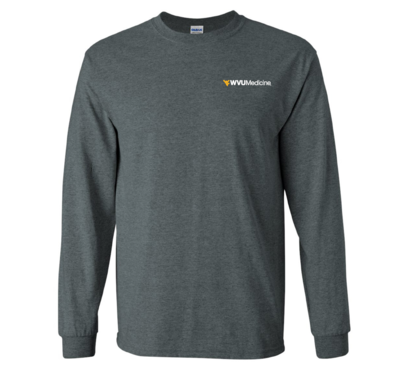 WVU MEDICINE L/S TEE 2400 HEATHER 3XL