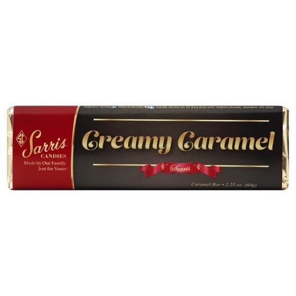 SARRIS CANDY CREAMY CARAMEL CANDY BAR