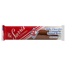 SARRIS CANDY MILK CHOCOLATE COVERED PRETZEL RODS 2-PACK