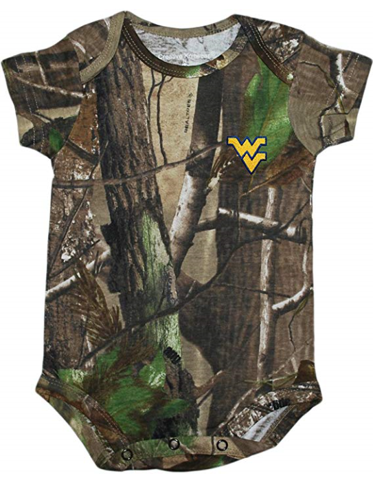 WV BODYSUITS CAMO 0-12 MONTH 12 MONTH