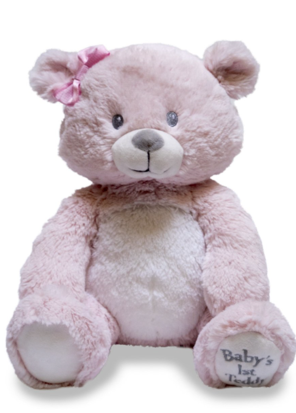 BABY'S 1ST LULLABY TEDDY BEAR PINK