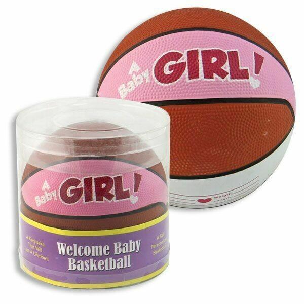 "3"" BABY BASKETBALL W/GIFT BOX PINK"