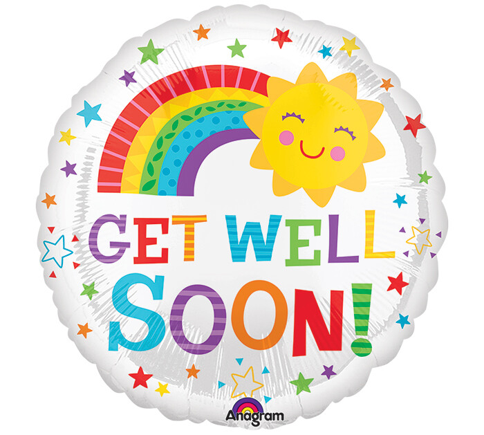 "18"" GET WELL SOON SUN & RAINBOW"
