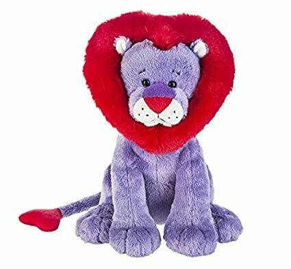 "10"" PURPLE LION W/ RED HEART MANE"