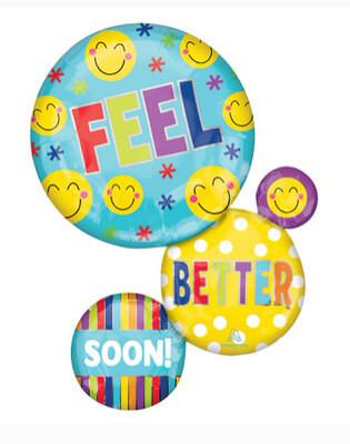 28 - FEEL BETTER SOON BALLOONS HOOKED TOGETHER