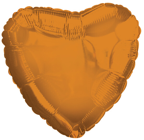 "18"" METALLIC HEART SOLID PUMPKIN"