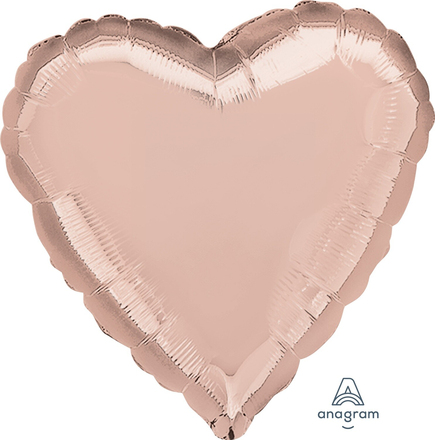 18 - METALLIC HEART SOLID ROSE GOLD