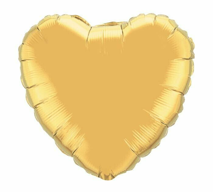 18 - METALLIC HEART SOLID GOLD