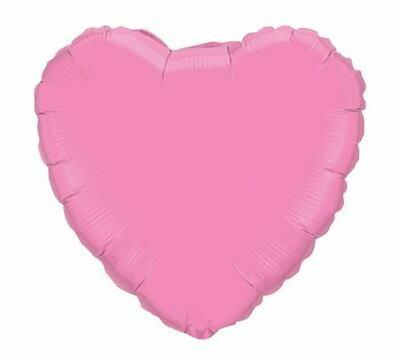 18 - METALLIC HEART SOLID ROSE