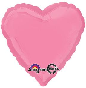 18 - METALLIC HEART SOLID BUBBLE GUM PINK