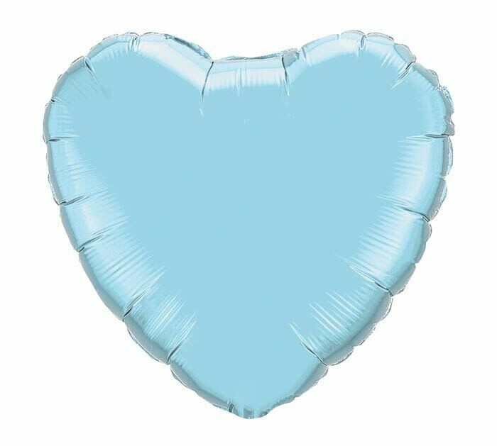 18 - METALLIC HEART SOLID PEARL LIGHT BLUE