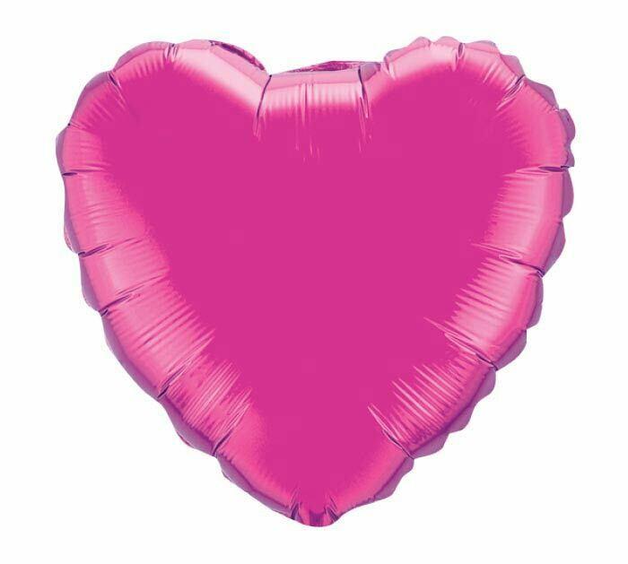 18 - METALLIC HEART SOLID MAGENTA