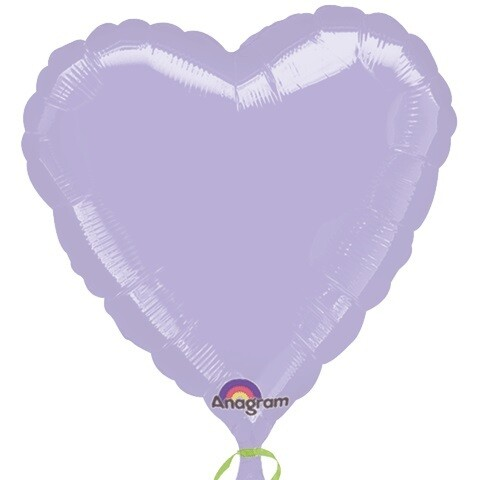 "18"" METALLIC HEART SOLID LILAC"