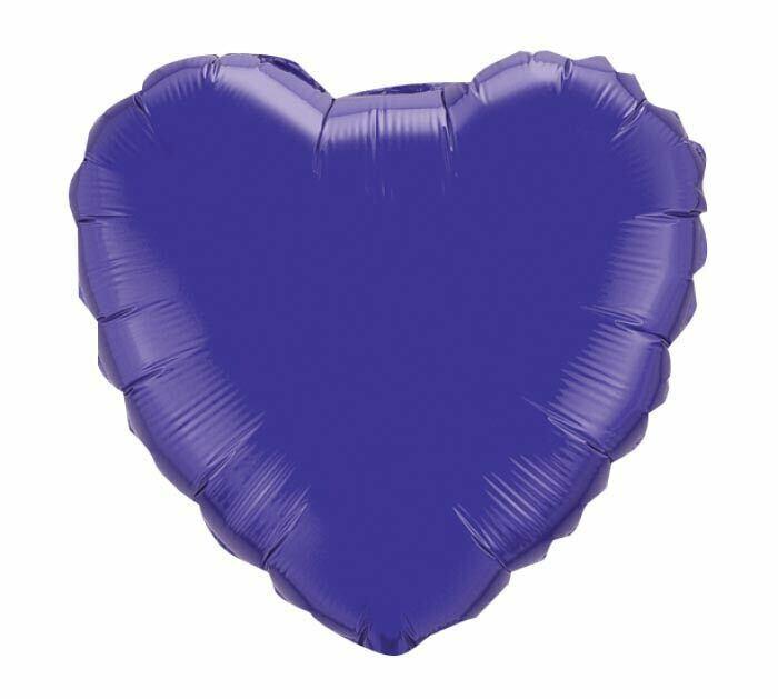 18 - METALLIC SOLID HEART PURPLE