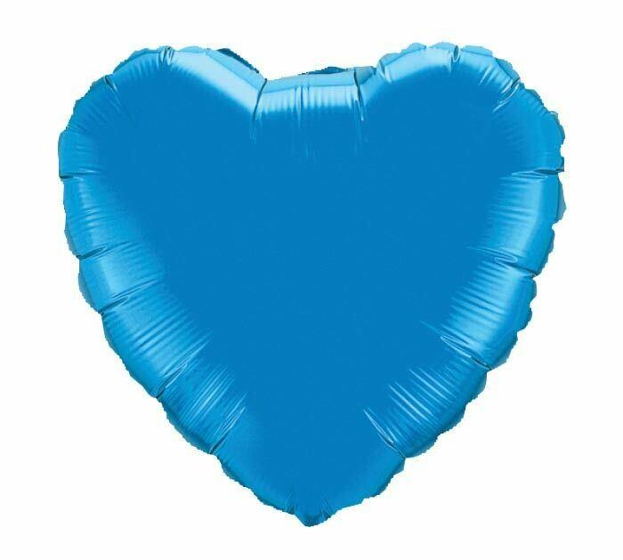 18 - METALLIC HEART SOLID SAPPHIRE BLUE