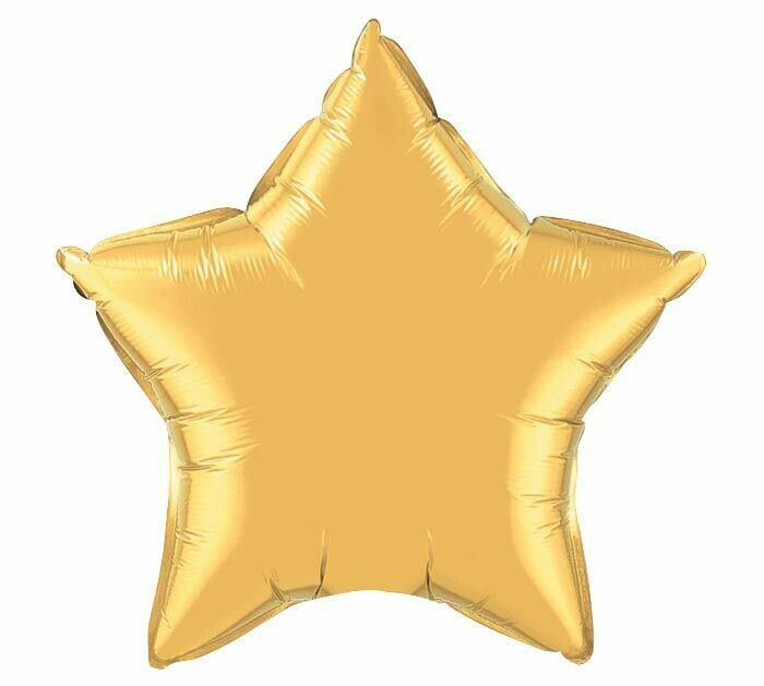 18 - METALLIC SOLID STAR GOLD
