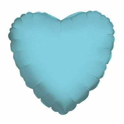 "18"" METALLIC HEART SOLID BABY BLUE"