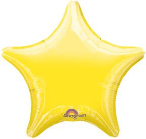 18 - METALLIC SOLID STAR YELLOW