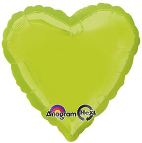18 - METALLIC HEART SOLID KIWI GREEN
