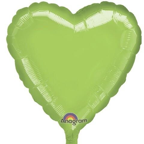 18 - METALLIC HEART SOLID LIME