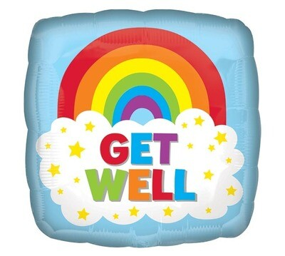 18 - GET WELL RAINBOW CLOUD SQUARE