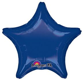 18 - METALLIC SOLID STAR DARK BLUE