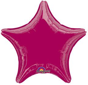 18 - METALLIC SOLID STAR BURGANDY #2