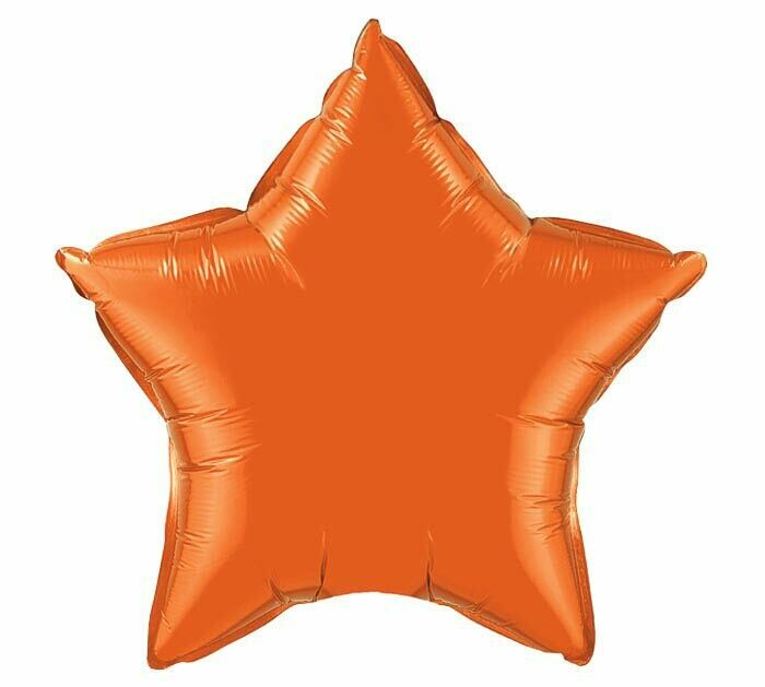 18 - METALLIC SOLID STAR ORANGE