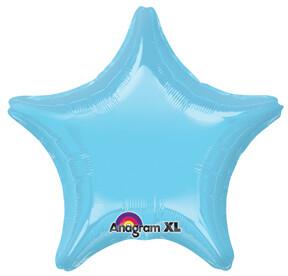 18 - METALLIC SOLID STAR PEARL LIGHT BLUE