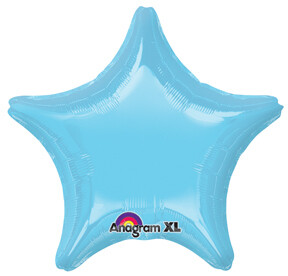 18 - METALLIC SOLID STAR PEARL LIGHT BLUE