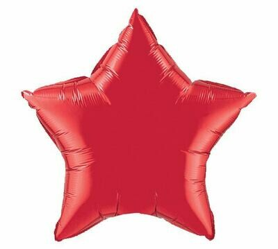18 - METALLIC SOLID STAR RED