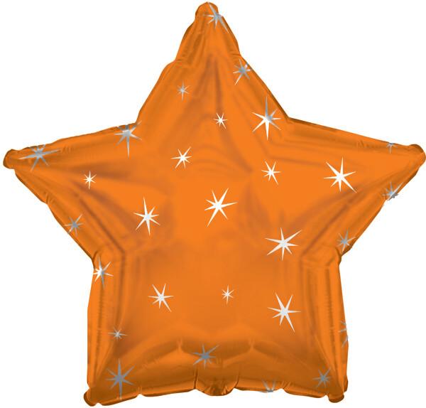 18 - METALLIC STAR W/STARS ORANGE